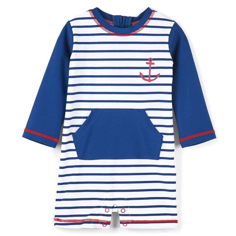 Nautical Stripes Rashguard One-Piece 3-24m