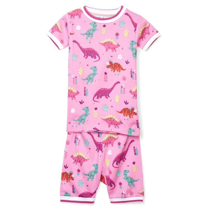 Darling Dinos Organic Cotton Short Pajama Set 2-8y