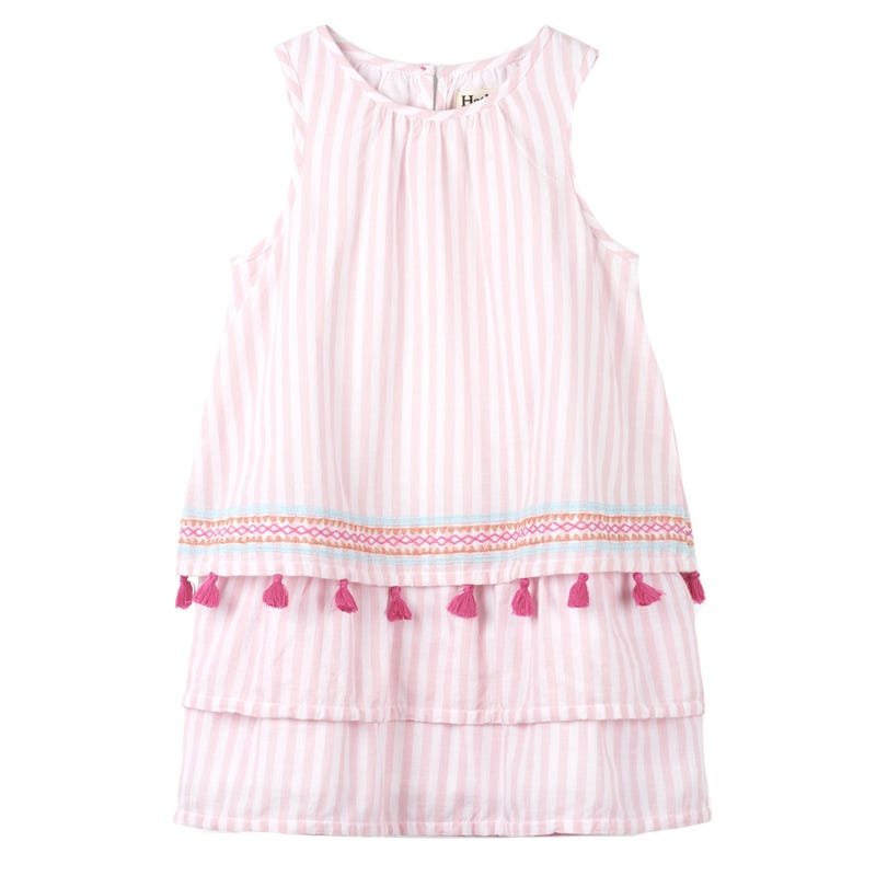 Tropical Stripes Layered Dress 2-8y
