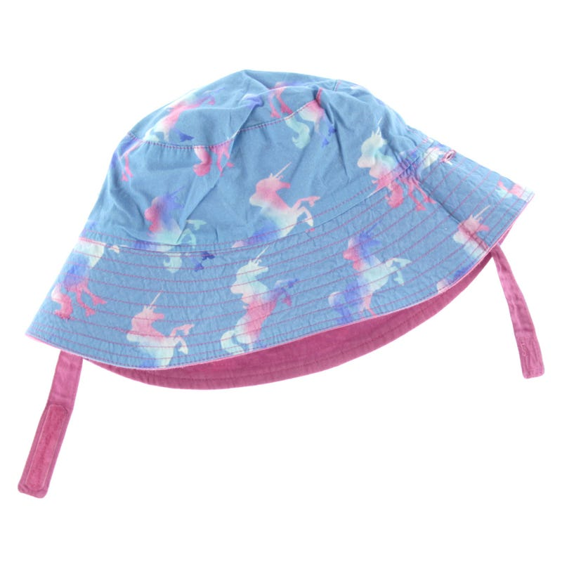 Rainbow Unicorns Reversible Sun Hat 6-18m