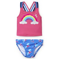 Rainbow Unicorns Sporty Tankini Set 2-8y