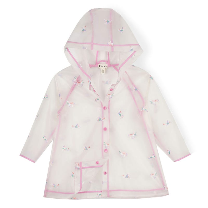 Rainbow Unicorns Clear Swing Raincoat 3-7y