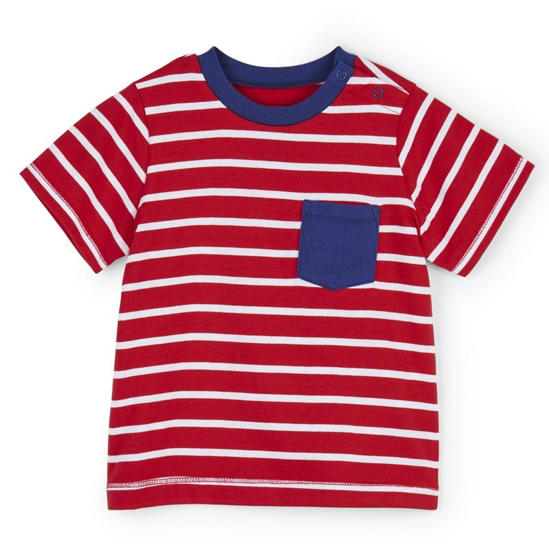 Red Stripes Tee 3-24m
