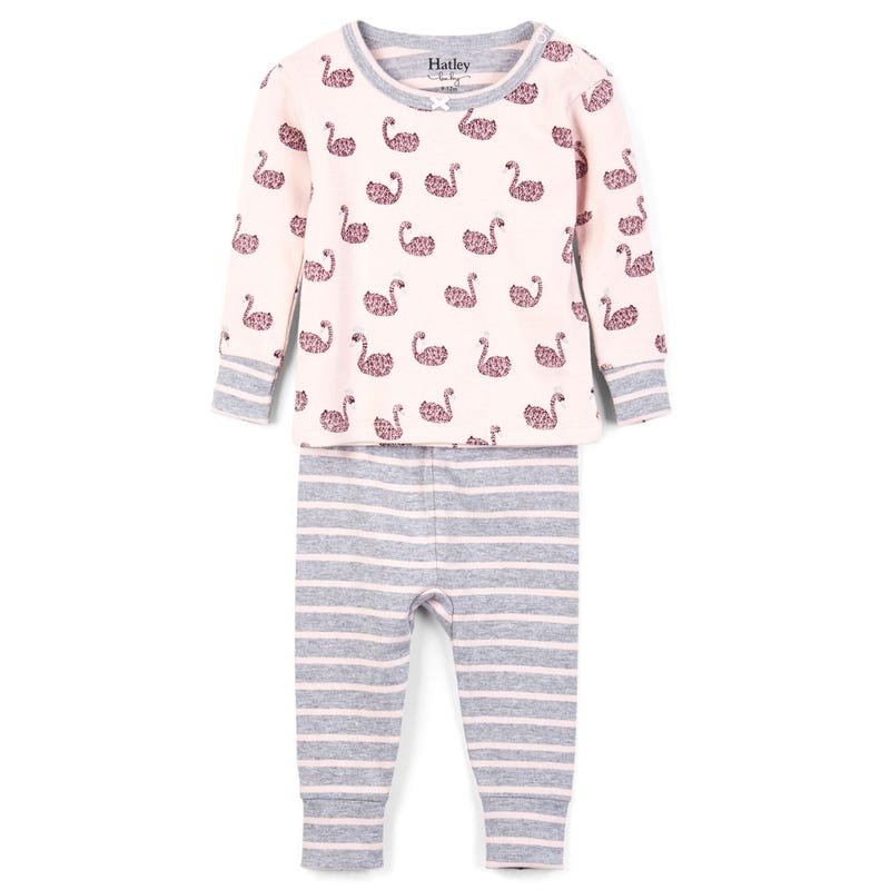 Swan Lake Organic Cotton Pajama Set 3-24m