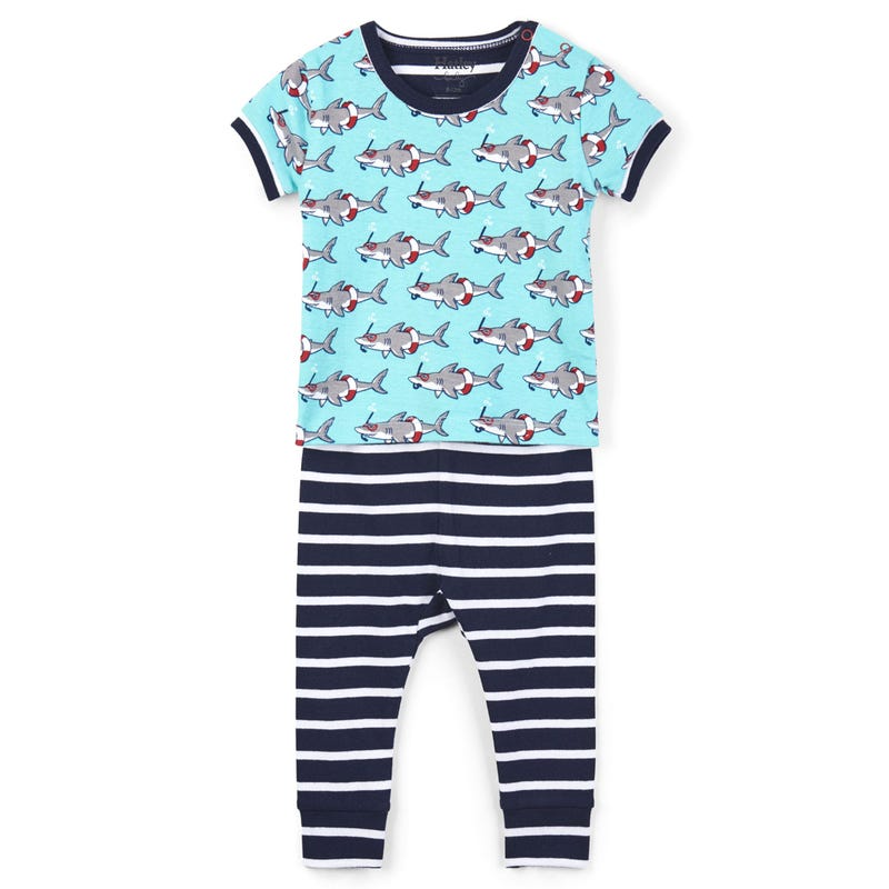 Snorkeling Sharks Organic Cotton Pajama Set 3-24m