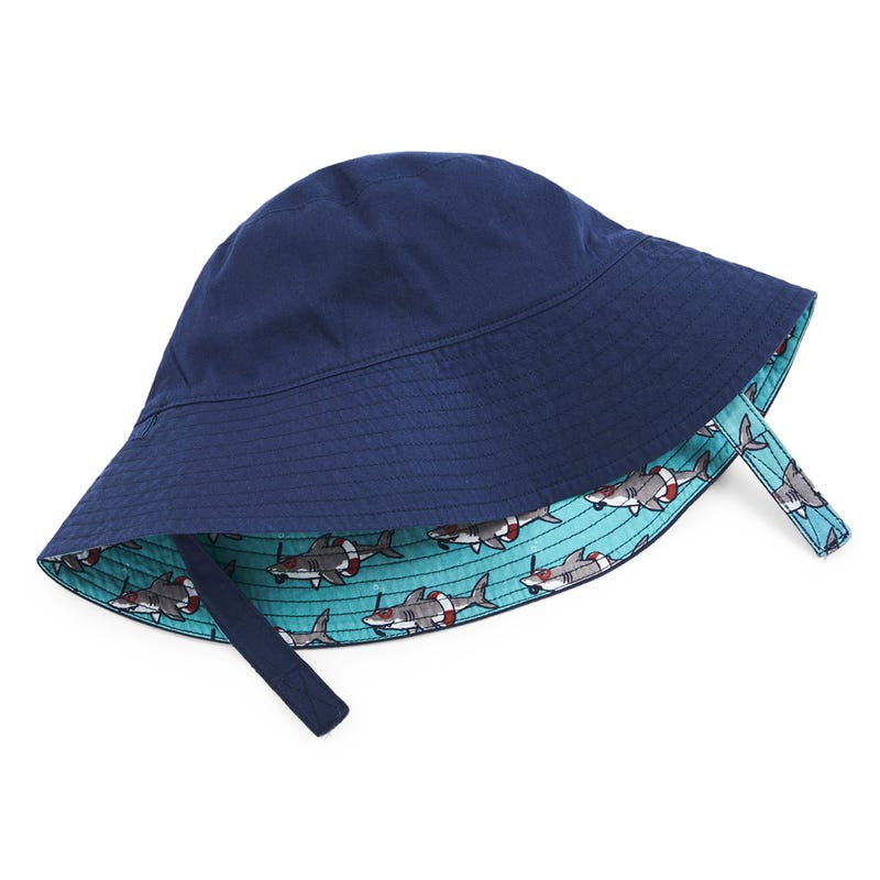 Snorkeling Sharks Reversible Sun Hat 6-18m