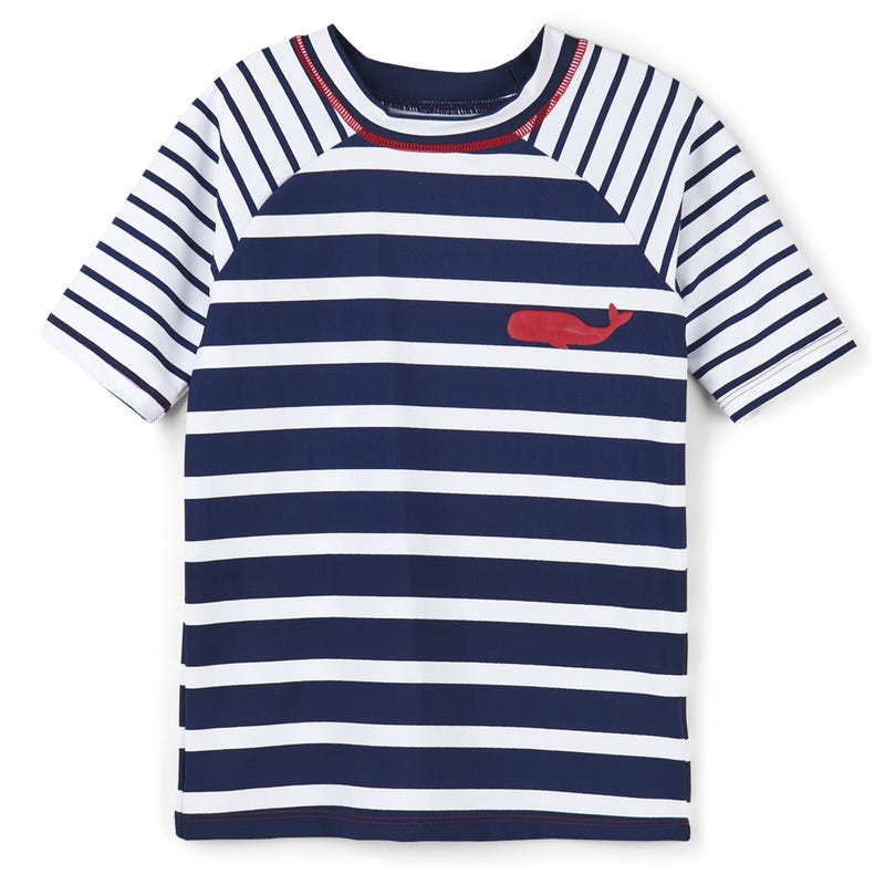 Nautical Stripes Short Sleeve Rashguard 2-7y