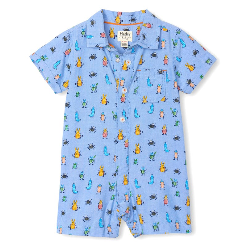 Bugs Wover Romper 3-24m