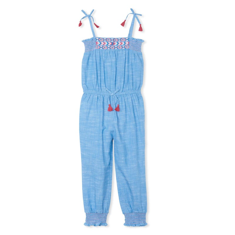 Combi-long Chambray Flamant3-8