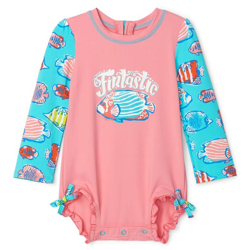 Fish Rashguard Swimsuit 3-24m