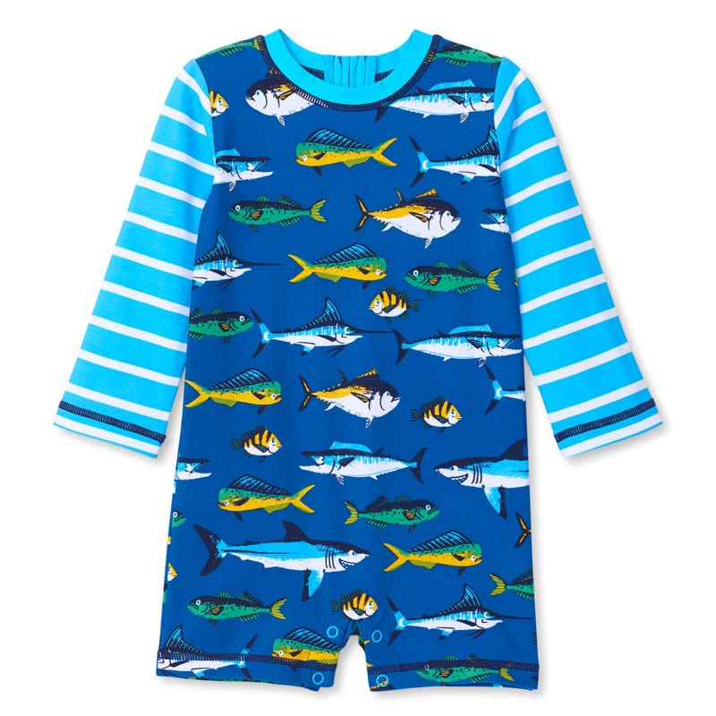 Fish UV Rashguard Swimsuit 3-24m