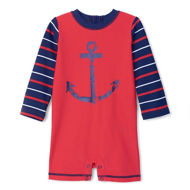 Nautical Rashguard Swimsuit