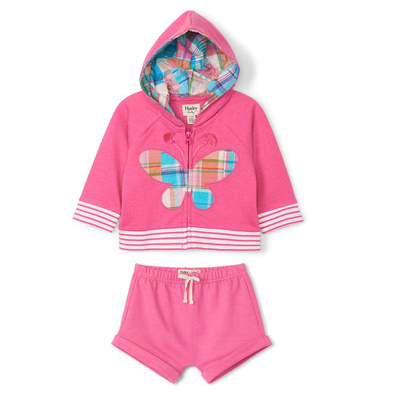 Plaid Butterfly Hoodie Set3-24