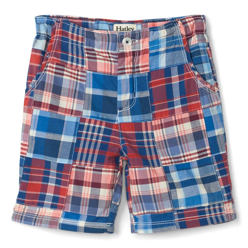 Nautical Plaid Shorts 2-8