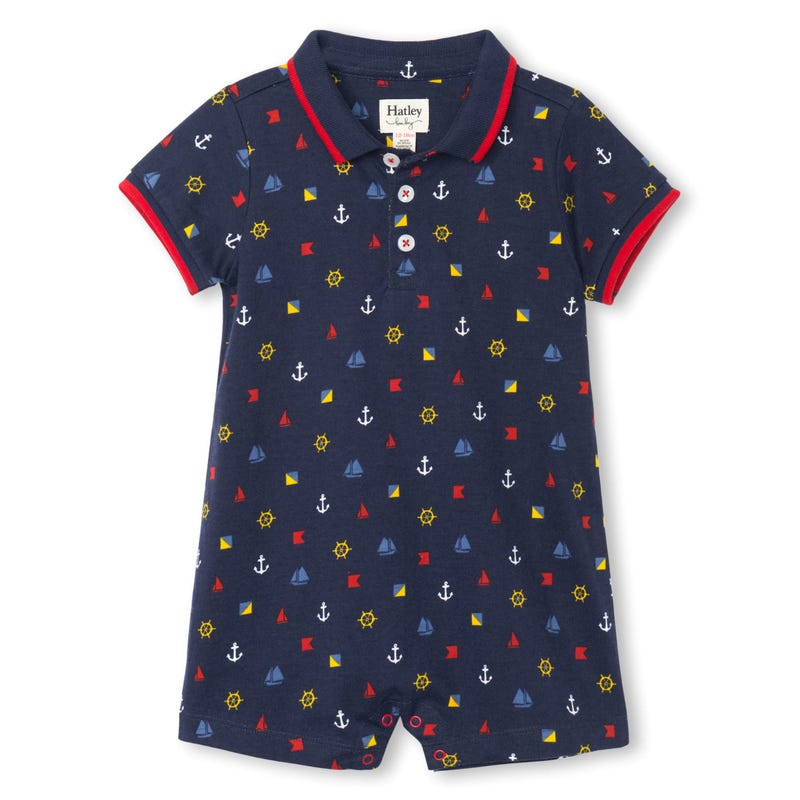 Boats Polo Romper 3-24m