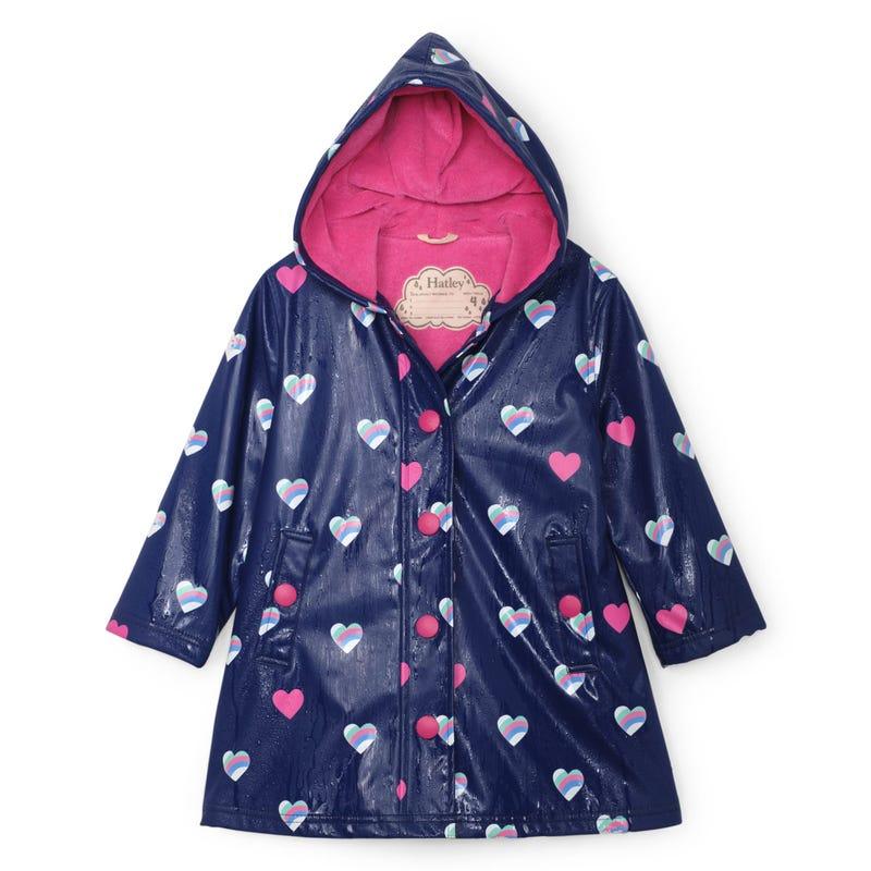 Hearts Raincoat 3-8