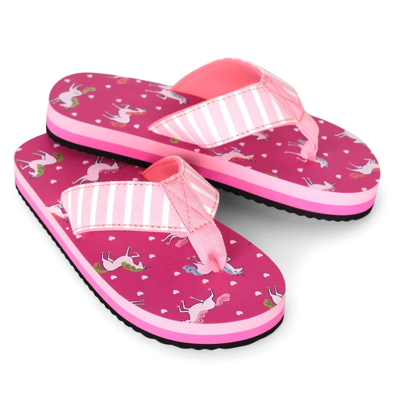 Unicorns Flip Flops Size 7-13
