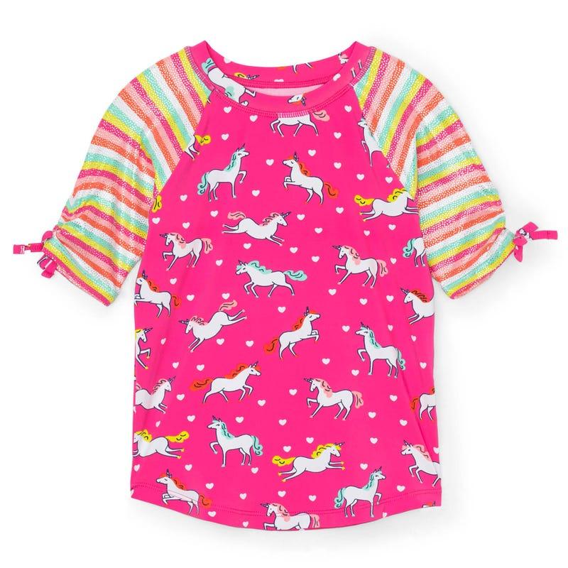 T-Shirt Maillot UV Licornes 2-8