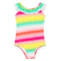 Unicorn Ruffle UV Swimsuit 2-8