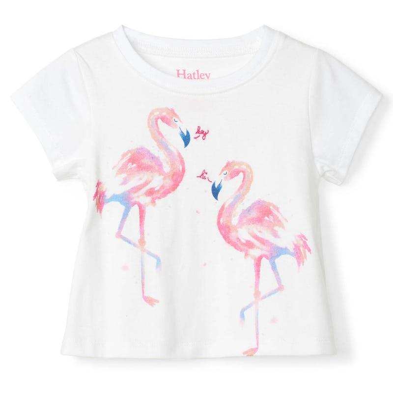 T-Shirt Flamant Oiseaux 3-24m