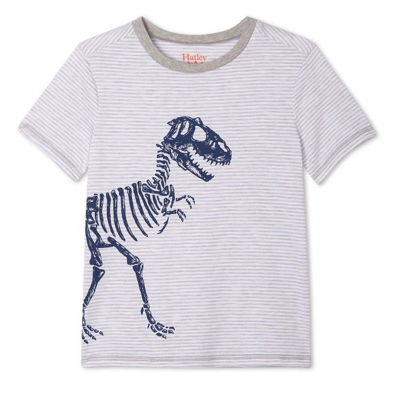 T-shirt Rayé Dino 2-8ans