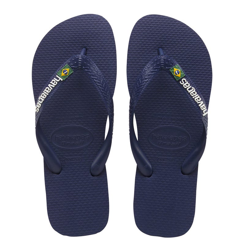 Brazil Logo Navy Blue Sandals