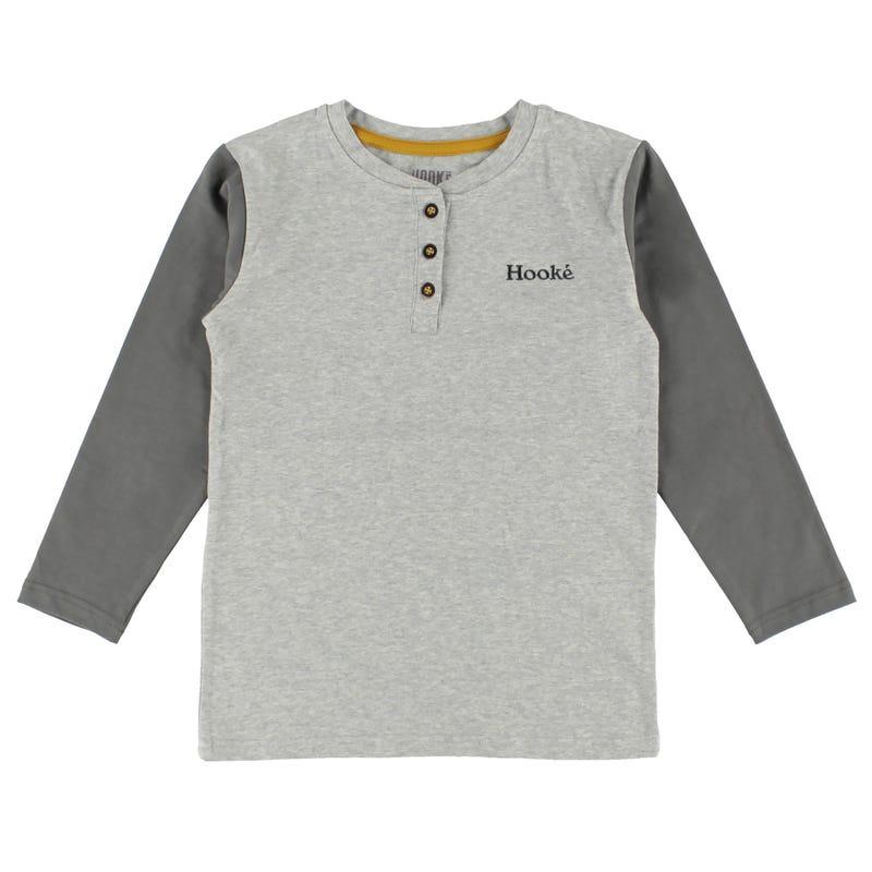 T-Shirt à Manches Longues Boutons Hooké 2-8ans