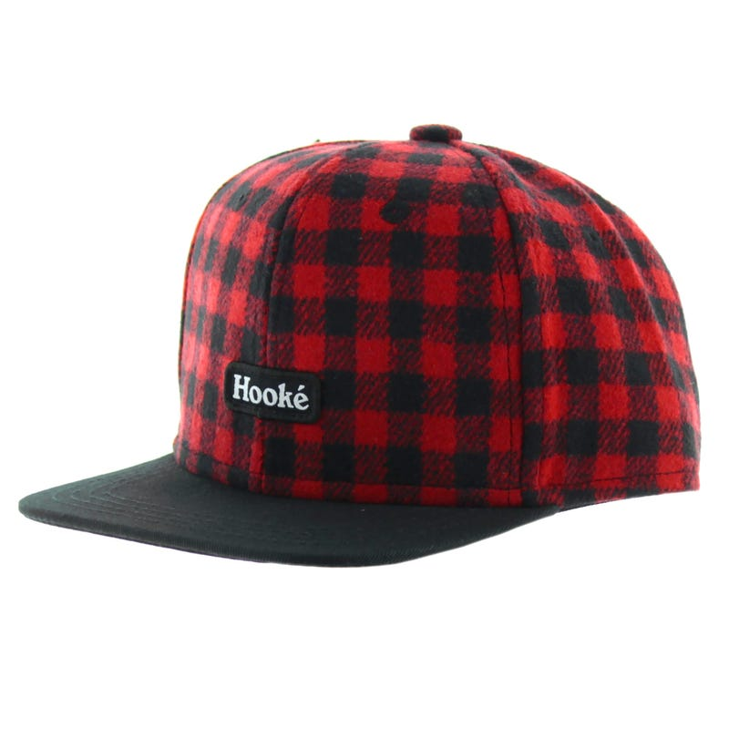 Hooke Red Plaid Cap 2-8