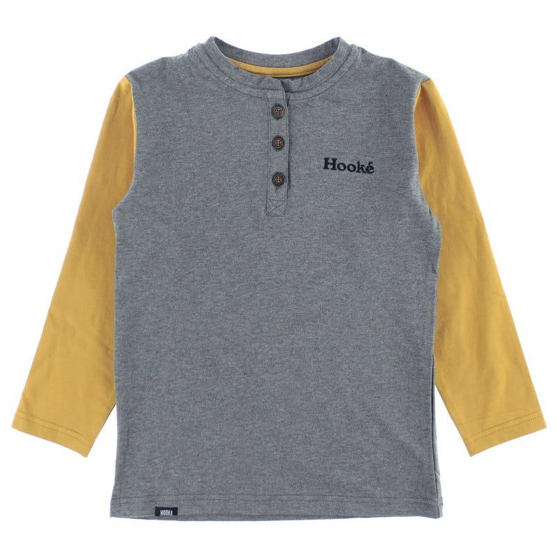 T-Shirt Henley Hooké 2-14ans