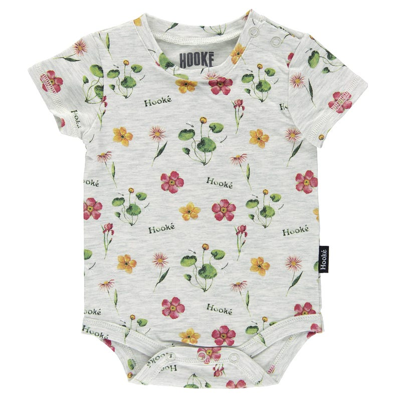 T-Shirt 1 Pièce Fleurs Hooké 3-24mois