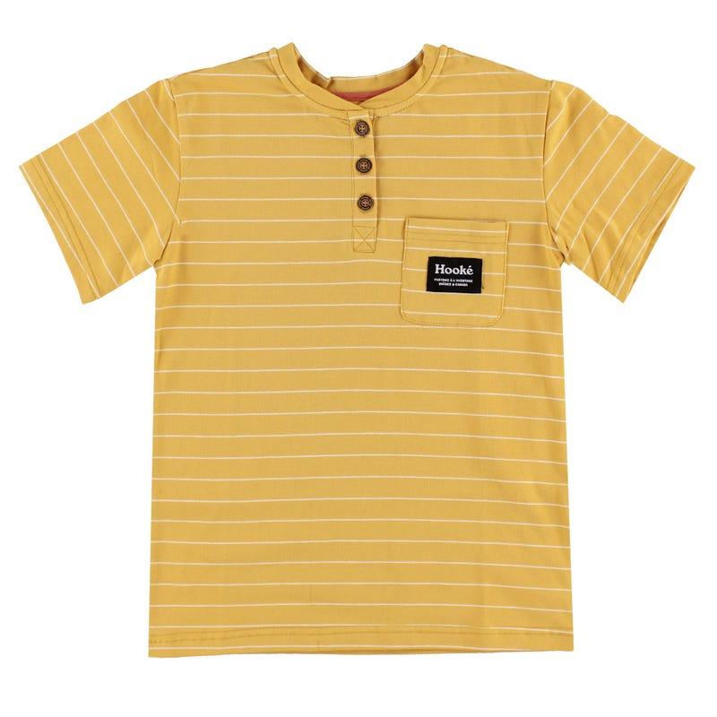 T-Shirt Rayé Henley Hooké 2-12ans