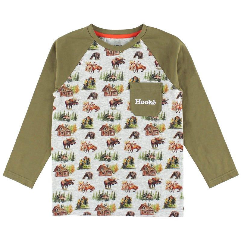 T-Shirt Raglan Motif Hooké2-14ans