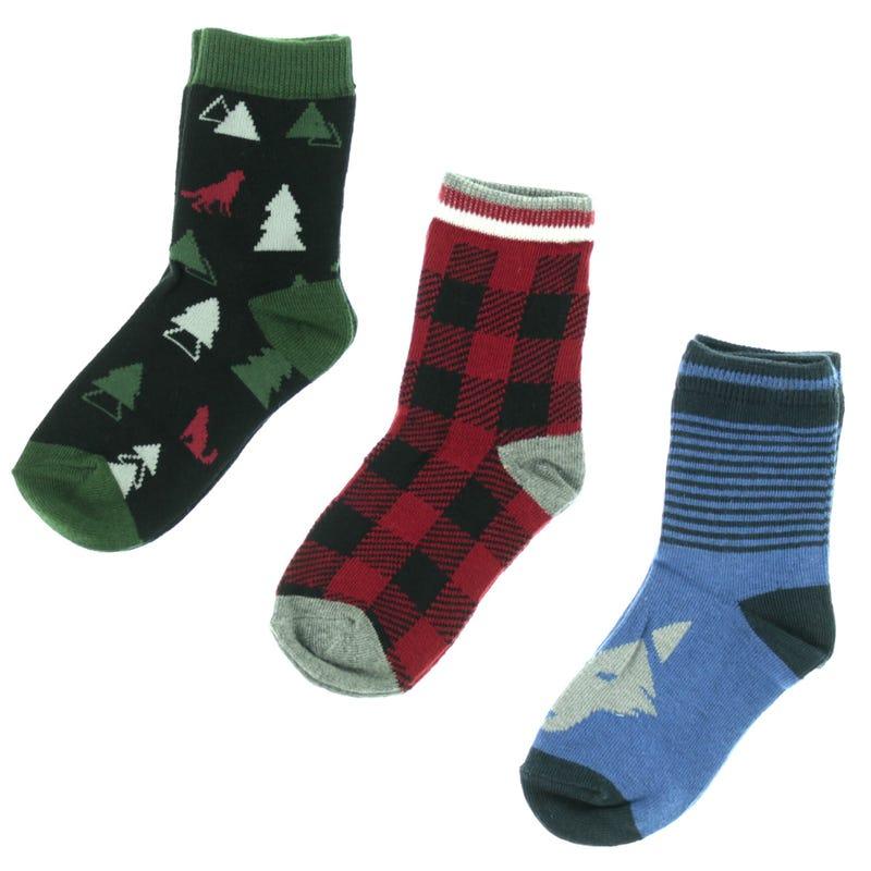 Wolf Socks 2-7y - Set of 3