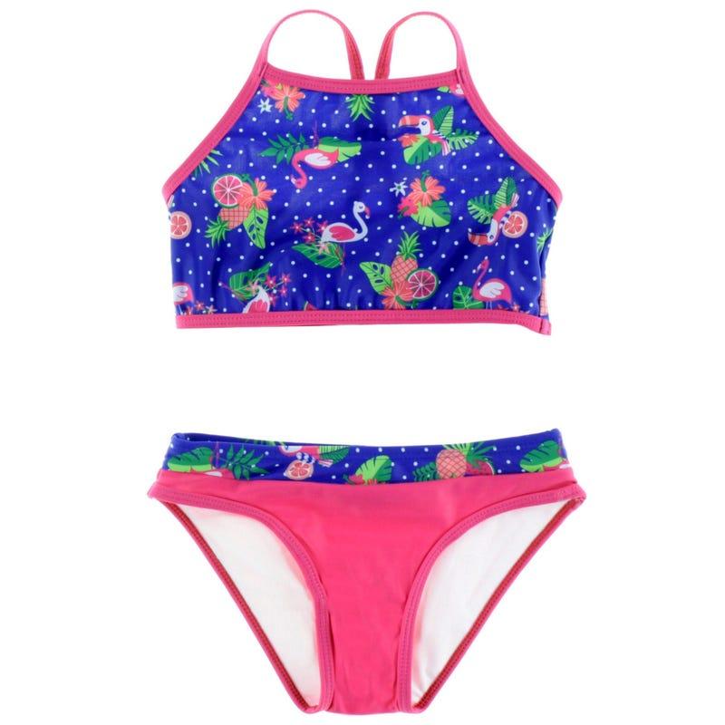 Tropical Print Bikini 2-6y