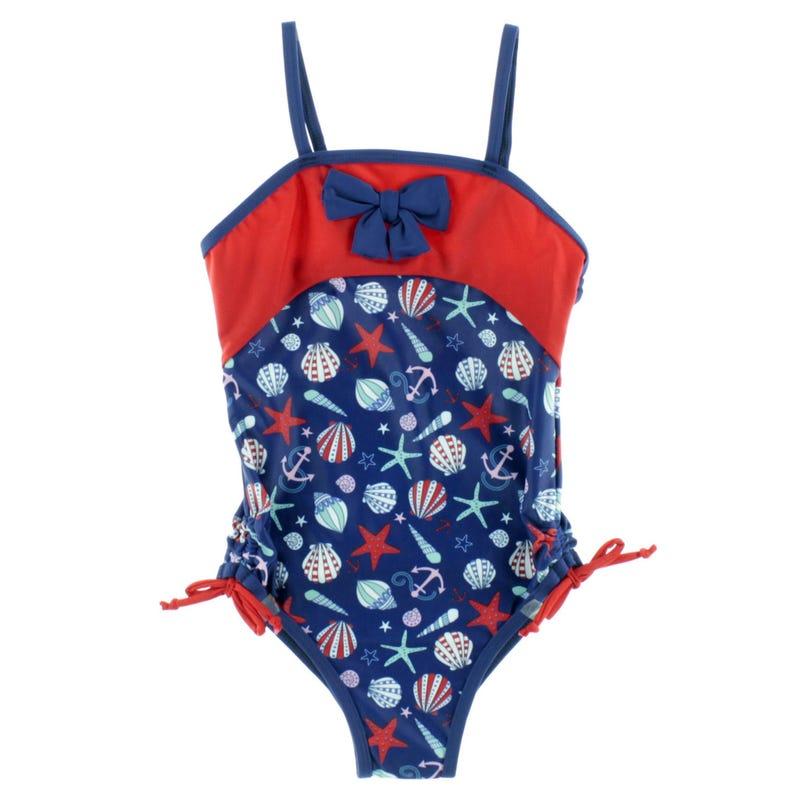 Nautical Chevron Swimsuit 2-6y