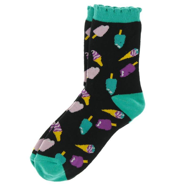 Ice Cream Printed Socks 8-12