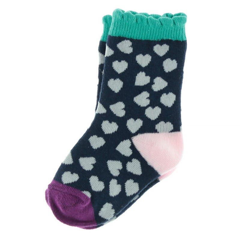 Hearts Printed Socks 9-24m