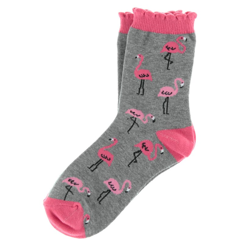 Flamingos Printed Socks 2-7
