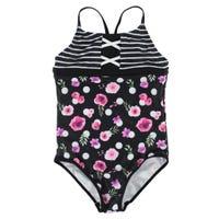 Dots Flowers UV Swimsuit 7-14y
