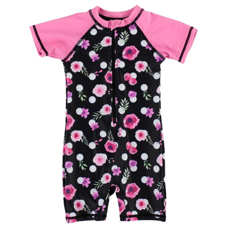 Dots Flowers UV Swimsuit 9-24m