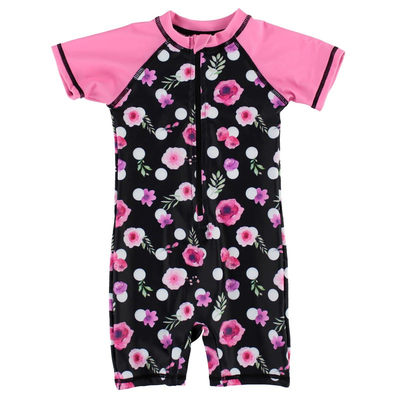 Dots Flowers UV Swimsuit 2-4y