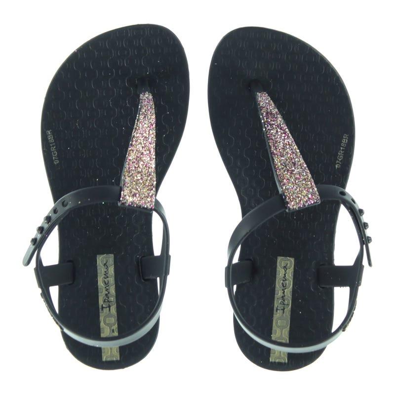 Shimmer Sandals Sizes 10-4 - Black