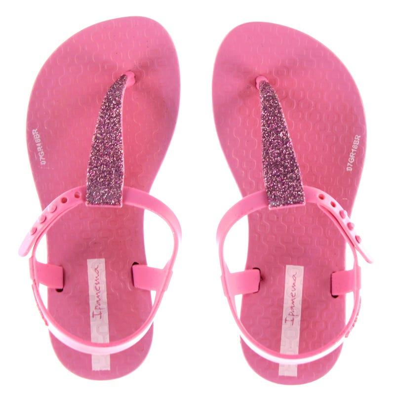 Shimmer Sandals Sizes 10-4 - Pink