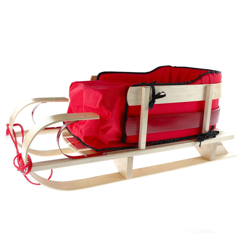 Deluxe Sleigh for Children with Cushion