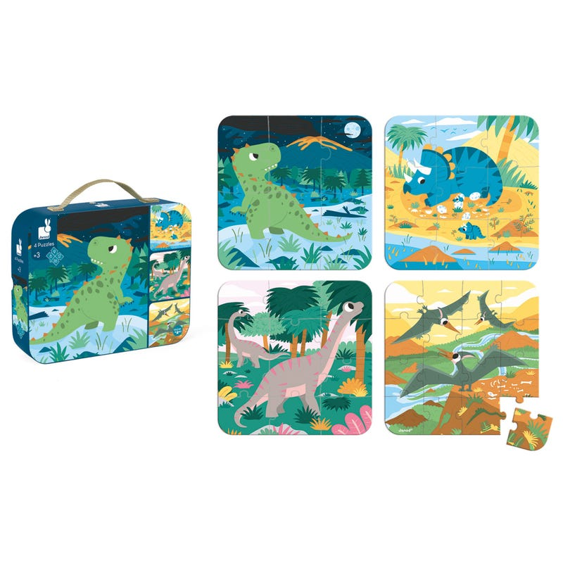 Puzzle 4 in 1 Dinosaurs