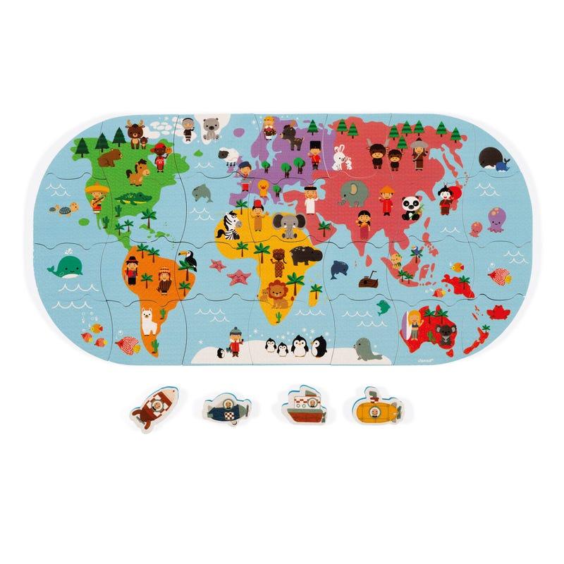 Jouet pour le Bain Carte du Monde