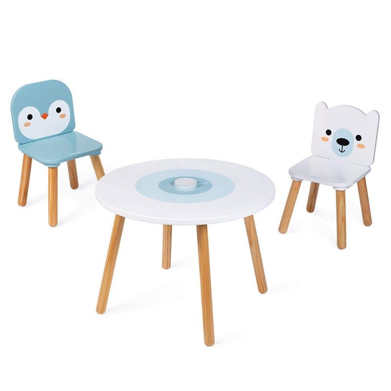 Ensemble Table et 2 Chaises en Bois - Banquise