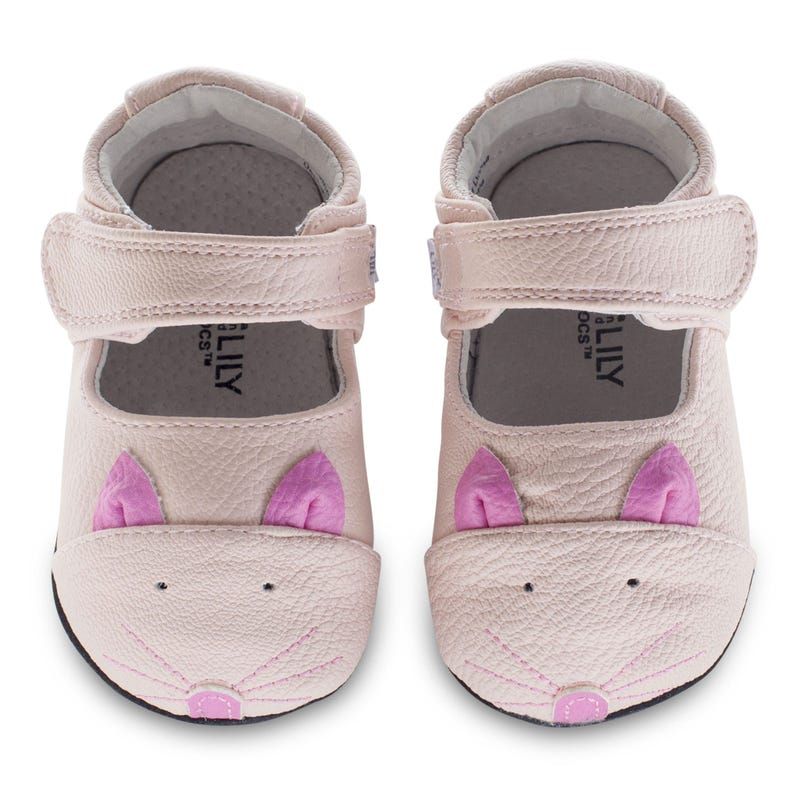 Robin Leather Mocs 0-18m - Pink