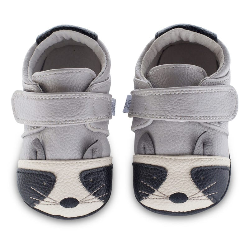 Kelso Leather Mocs 0-18m - Gray