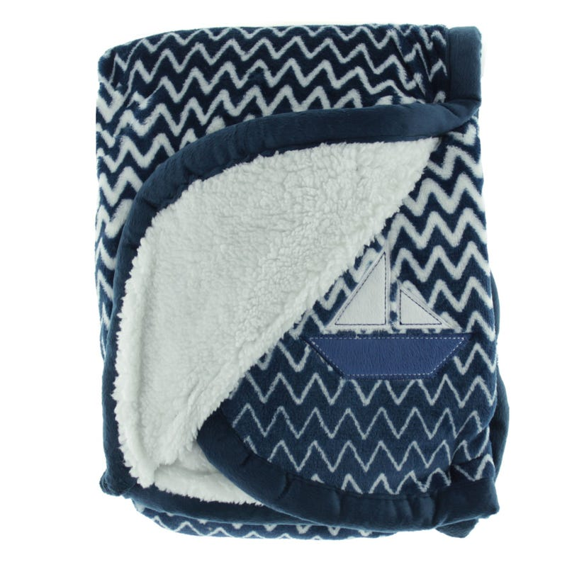 Blanket Chevron Navy